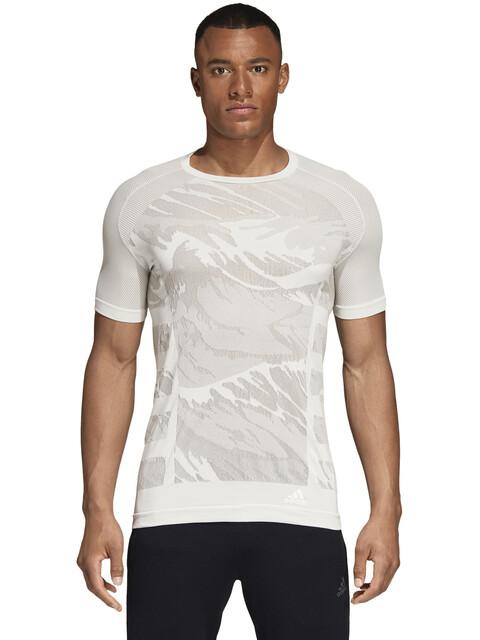 adidas Ultra Primeknit Parley T-Shirt Men Cloud White/Grey Two